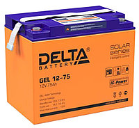 Аккумулятор Delta GEL 12-75  (12В, 75Ач), фото 1