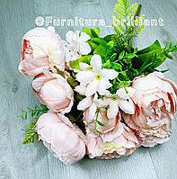 Цветы пионы 9 голов и три пучка тычинки розовые