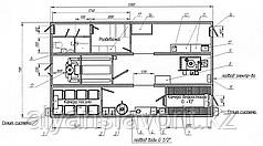 Модульный цех контейнерного типа для сушки и вяления рыбы загрузкой 400 кг