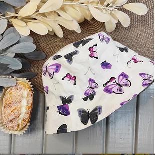 Летняя лёгкая панамка с бабочками