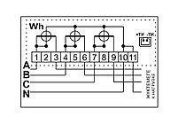 Счетчик электросчетчик 3ф ДАЛА СА4-Э720 Т1 3x220/380V 5(60)A, фото 3
