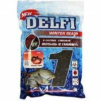 Прикормка зимняя увлажненная DELFI ICE Ready (большая рыба; мотыль + червь, черная, 500 г) tr-218632