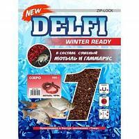 Прикормка зимняя увлажненная DELFI ICE Ready (озеро; мотыль + червь, черная, 500 г) tr-218640