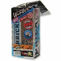 Прикормка зимняя увлажненная takedo brick! ice black (карась; гаммарус, халва, мотыль, 500 г) tr-218699