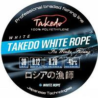 Плетеный шнур зимний TAKEDO White Rope (белый, 0,12 мм, 8,20 кг, 30 м, 10 шт) tr-219114