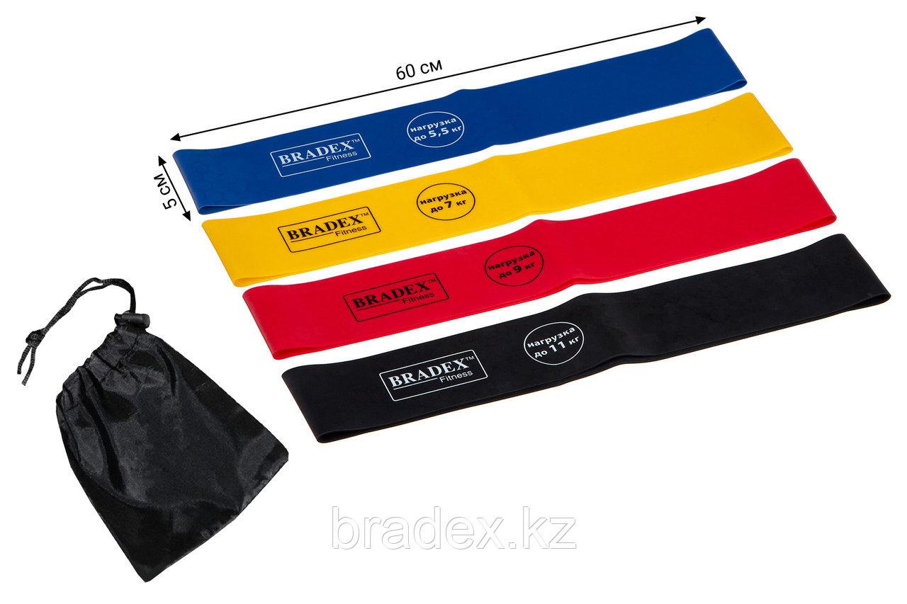 Набор из 4-х резинок для фитнеса Bradex SF 0672, нагрузка до 5,5/7/9/11 кг - фото 1