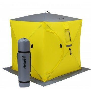 Палатка зимняя куб 1,8х1,8 yellow/gray helios (hs-isc-180yg) tr-85084 - фото 1