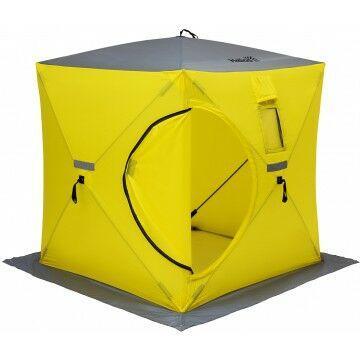 Палатка зимняя куб 1,8х1,8 yellow/gray helios (hs-isc-180yg) tr-85084 - фото 2