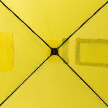 Палатка зимняя куб 1,8х1,8 yellow/gray helios (hs-isc-180yg) tr-85084 - фото 8