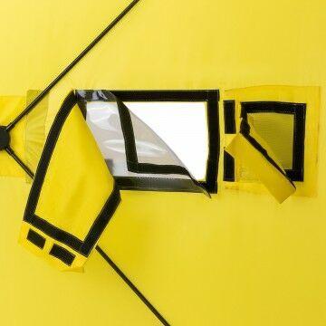 Палатка зимняя куб 1,8х1,8 yellow/gray helios (hs-isc-180yg) tr-85084 - фото 9