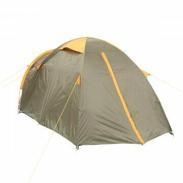 Палатка MUSSON-3 Helios зеленый-оранжевый HS-2366-3 GO - фото 4