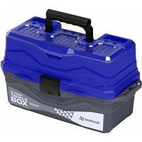 Ящик для снастей Tackle Box трехполочный N-TB-3-T Nisus синий N-TB-3-B
