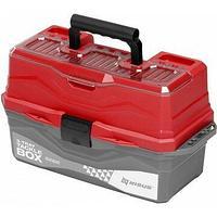 Ящик для снастей tackle box трехполочный nisus красный (n-tb-3-r) tr-241405