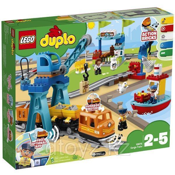 Lego Duplo Town Грузовой поезд 10875