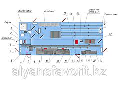 Модульная площадка убоя свиней в контейнерном исполнении с холодильной камерой охлаждения на 32 туши.