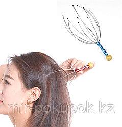 Капиллярный массажер антистресс для головы Мурашка (Пальчики Шиатсу)