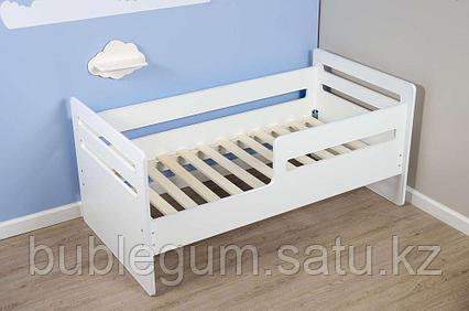 Кровать подростковая «Wooden bed - 4», (белый), спальное ложе 160 * 80 см