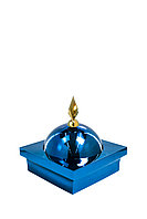 "Купол ""БАЙ"" на мазар. Цвет синий с золотым декоративным пером. На колонну 39,5 х 39,5 см."
