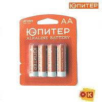 Батарейка AA LR6 1,5V alkaline 4шт. ЮПИТЕР (JP2101)