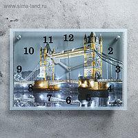 """Часы настенные, серия: Город, """"Тауэрский Мост"""", 25х35 см, микс"""