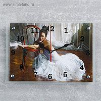 """Часы настенные, серия: Люди, """"Балерина в комнате"""", 25х35 см, микс"""