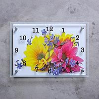 "Часы настенные, серия: Цветы, ""Два цветка"", 25х35 см, микс"