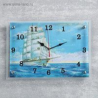 """Часы настенные, серия: Море, """"Корабль"""", 25х35 см, микс"""