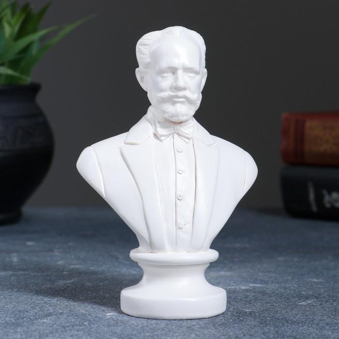 Бюст Чайковский 13,5 см, белый