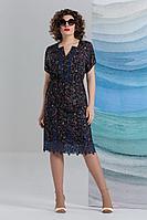 Женское летнее синее нарядное большого размера платье Avanti Erika 1012-1 50р.