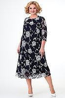 Женское летнее черное нарядное большого размера платье Algranda by Новелла Шарм А3748 60р.