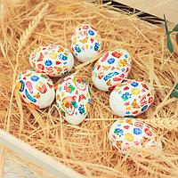 Термонаклейки на 7 яиц «Пасхальный паттерн», 7.3 х 43.2 см