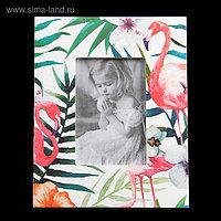 """Фоторамка дерево 10х15 см """"Фламинго"""" 24,7х19,6х1 см"""
