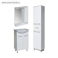 Комплект мебели для ванной Классик 50 (зеркало+тумба с раковиной+пенал) правый