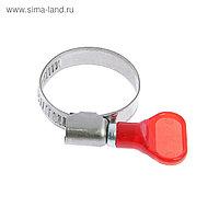 "Хомут с ""барашком"" TUNDRA krep W2, диаметр 20-32 мм, ширина 9 мм, нержавеющая сталь"