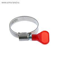 "Хомут с ""барашком"" TUNDRA krep W2, диаметр 25-40 мм, ширина 9 мм, нержавеющая сталь"