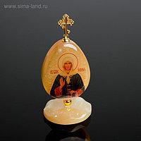 Яйцо «Ксения Петербургская», на подставке, 5×11 см, селенит