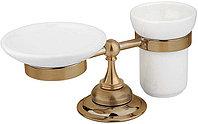 Стакан для зубных щеток и мыльница CEZARES APHRODITE-STTP-03/24, золото