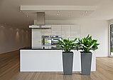 Горшок Finezja Lamela 250x250 - серый с вкладышем, фото 4