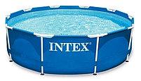 Каркасный сборный бассейн Intex Metal Frame Pool 366 х 76 см с фильтром, фото 2