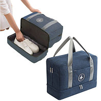 Водоотталкивающая сумка для путешествий трансформер непромокаемая синяя