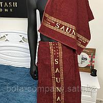 Сауник с полотенцем мужской махровый, фото 3
