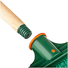 Метла OfficeClean, для улицы, плоская распушенная, с деревянным черенком 120см, фото 3
