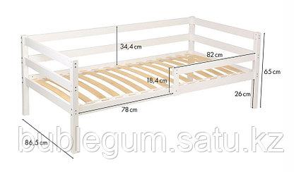 Кровать Polini Kids Simple 850, белый, Размер ложа 160х80 см