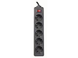 Сетевой фильтр Defender ES 5.0 - 5,0 М, 5 розеток, черный