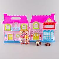 Funny House: Игровой набор кукольный домик со светом и звуком (мебель, 2 куклы, для девочек)