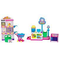 """Moose: Shopkins. Игровой набор """"Минимаркет"""", мини продукты, тележка, витрина, подарок девочке"""