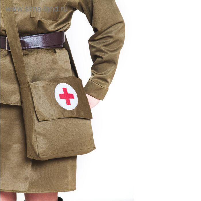 Костюм военный «Санитарочка», пилотка, гимнастёрка, ремень, юбка, сумка, р. 48-50, рост 170 см - фото 2