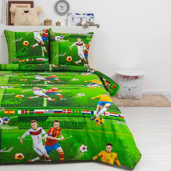 Детское постельное бельё ДайПоспать «Форвард», 147х217 см, 150х220 см, 70х70 см - 2шт