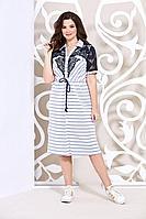 Женское летнее трикотажное большого размера платье Mira Fashion 4953 50р.