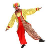 """Карнавальный костюм""""Клоун""""комбинезон,рубаха,воротник,парик,р56-58,р-т182"""